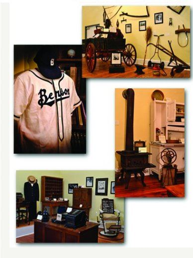 Items found in the museum, including office equipment, a stove, and a sports jersey